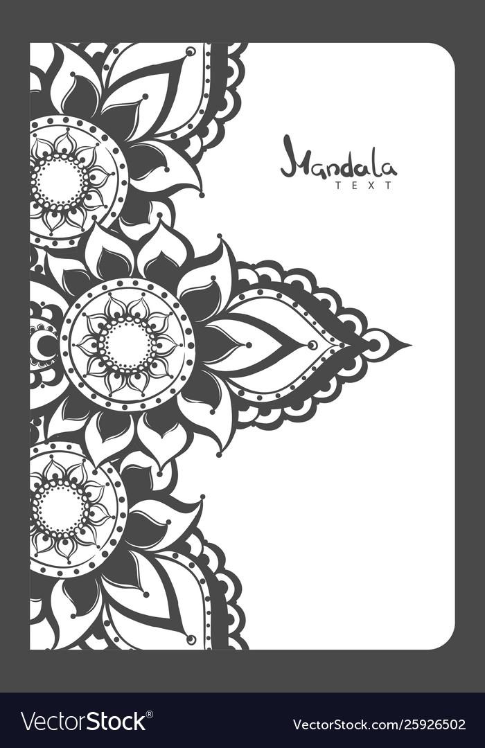 Notebook mehndi pattern