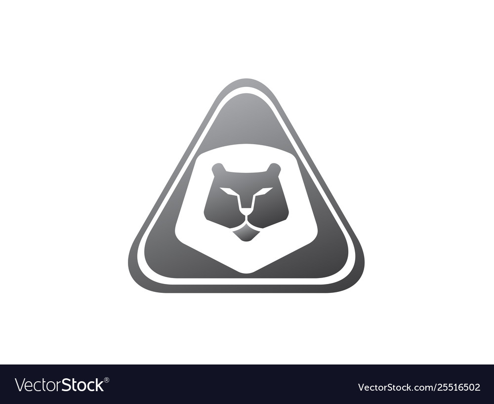 Orange lion head and face for logo design animal