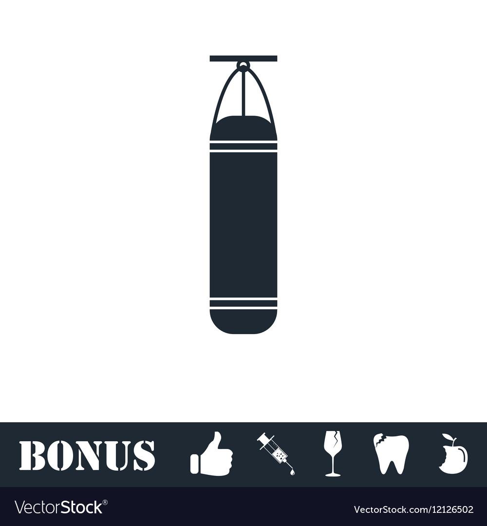 Punching bag icon flat vector image