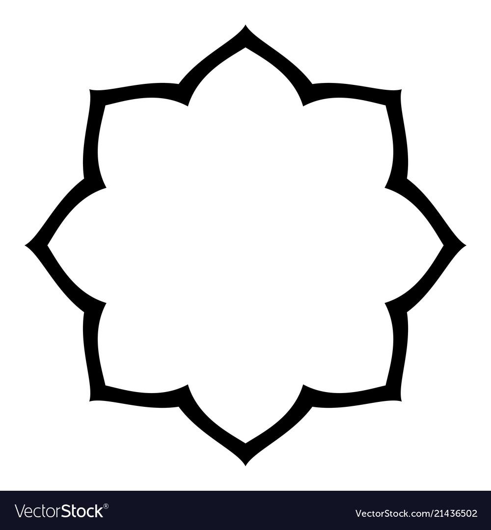 simple arabesque blank border royalty free vector image