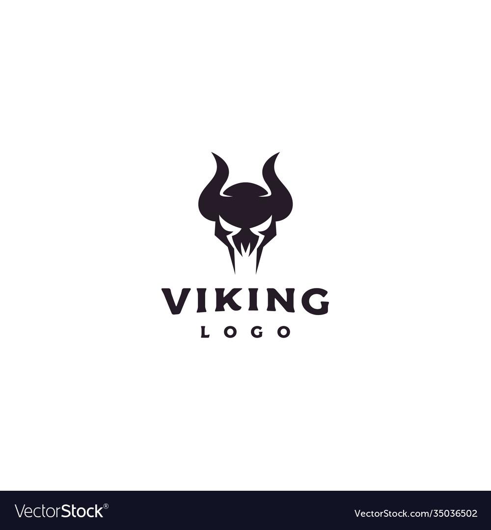 Viking armor helmet logo design