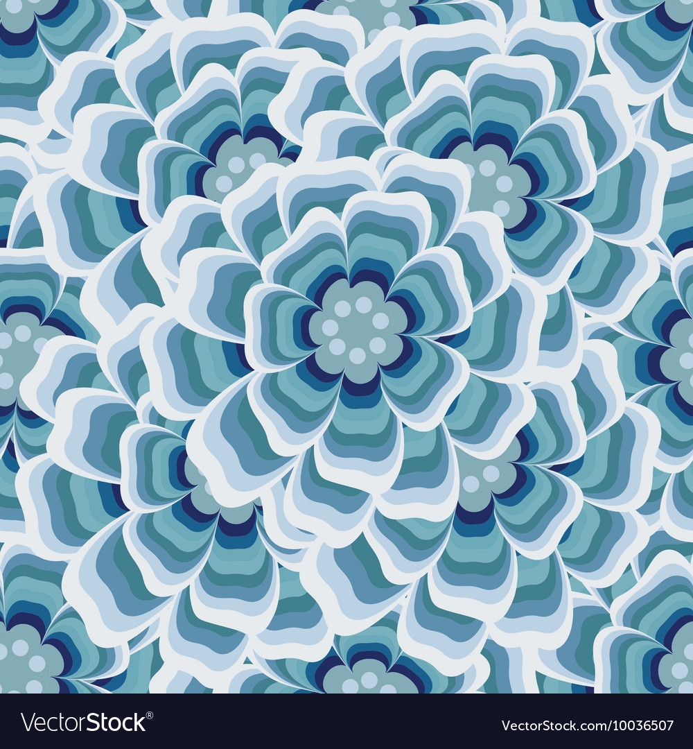 Abstract blue Floral Greeting card background