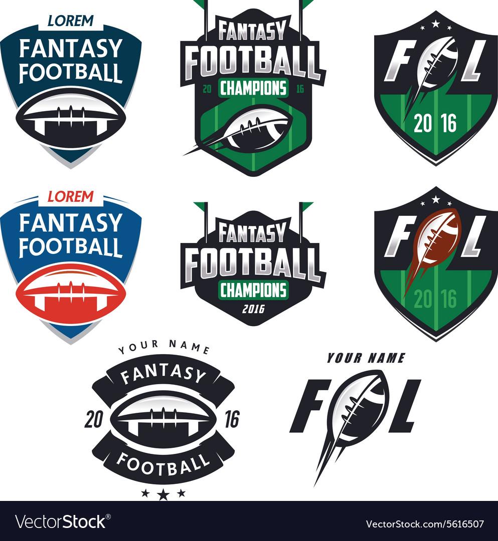 American football fantasy league design elemens