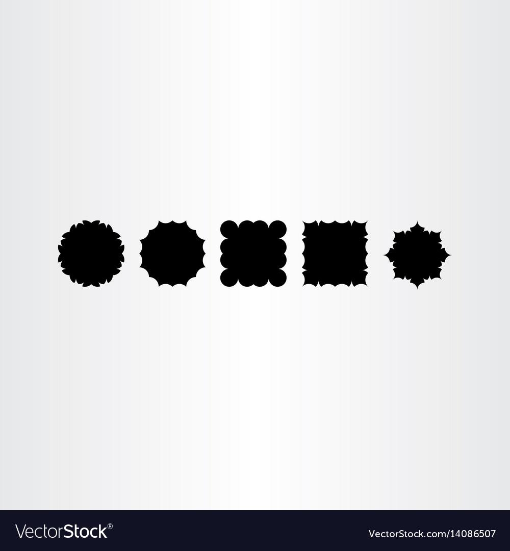 Black frames labed design elements