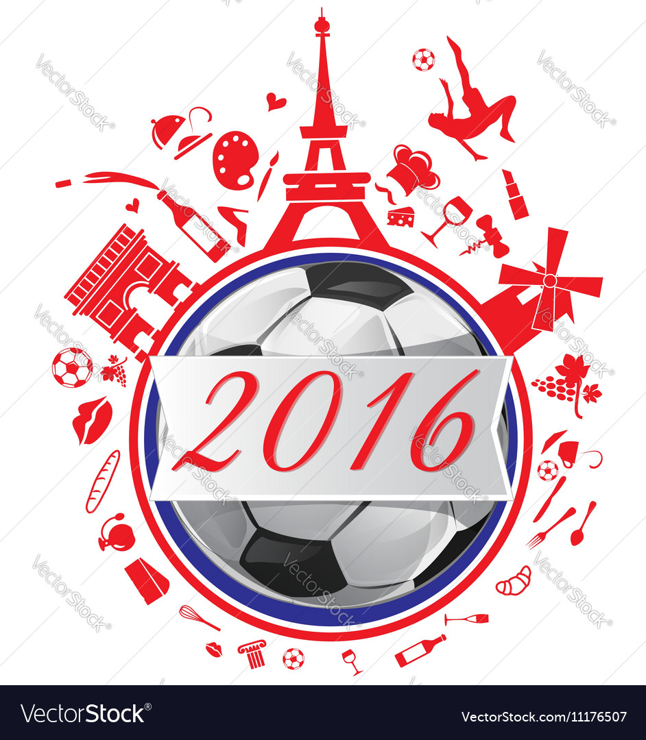 France symbol with flag and soccer ball