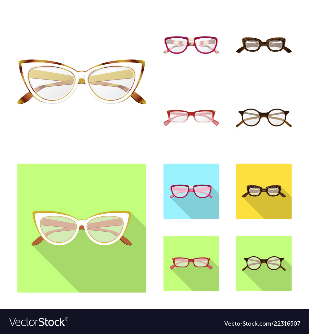 43977ad21b98 Glasses and frame logo set Royalty Free Vector Image