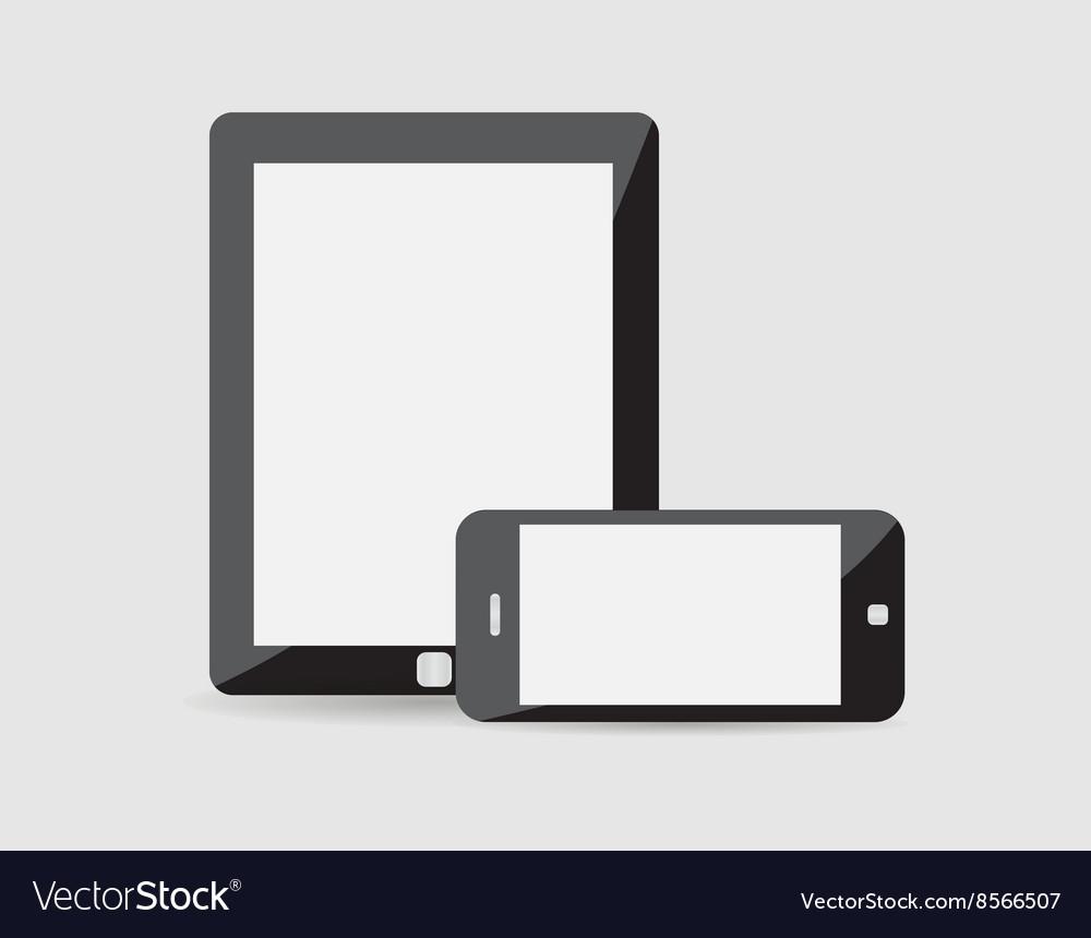 Modern phone tablet on a