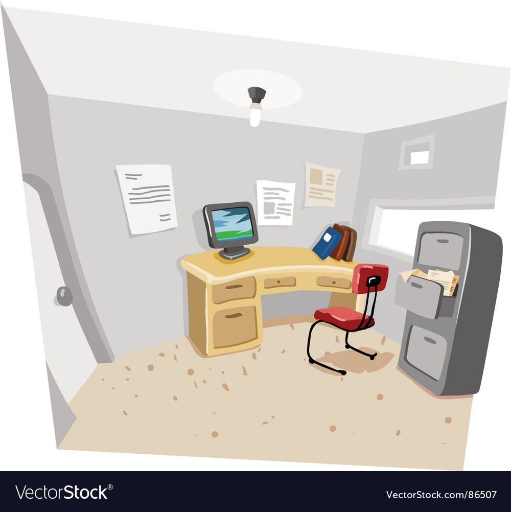 Private work room vector image