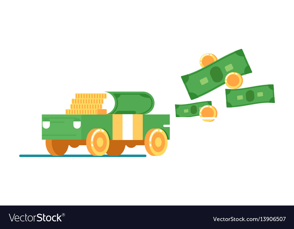 Rent or sale car service icon with money