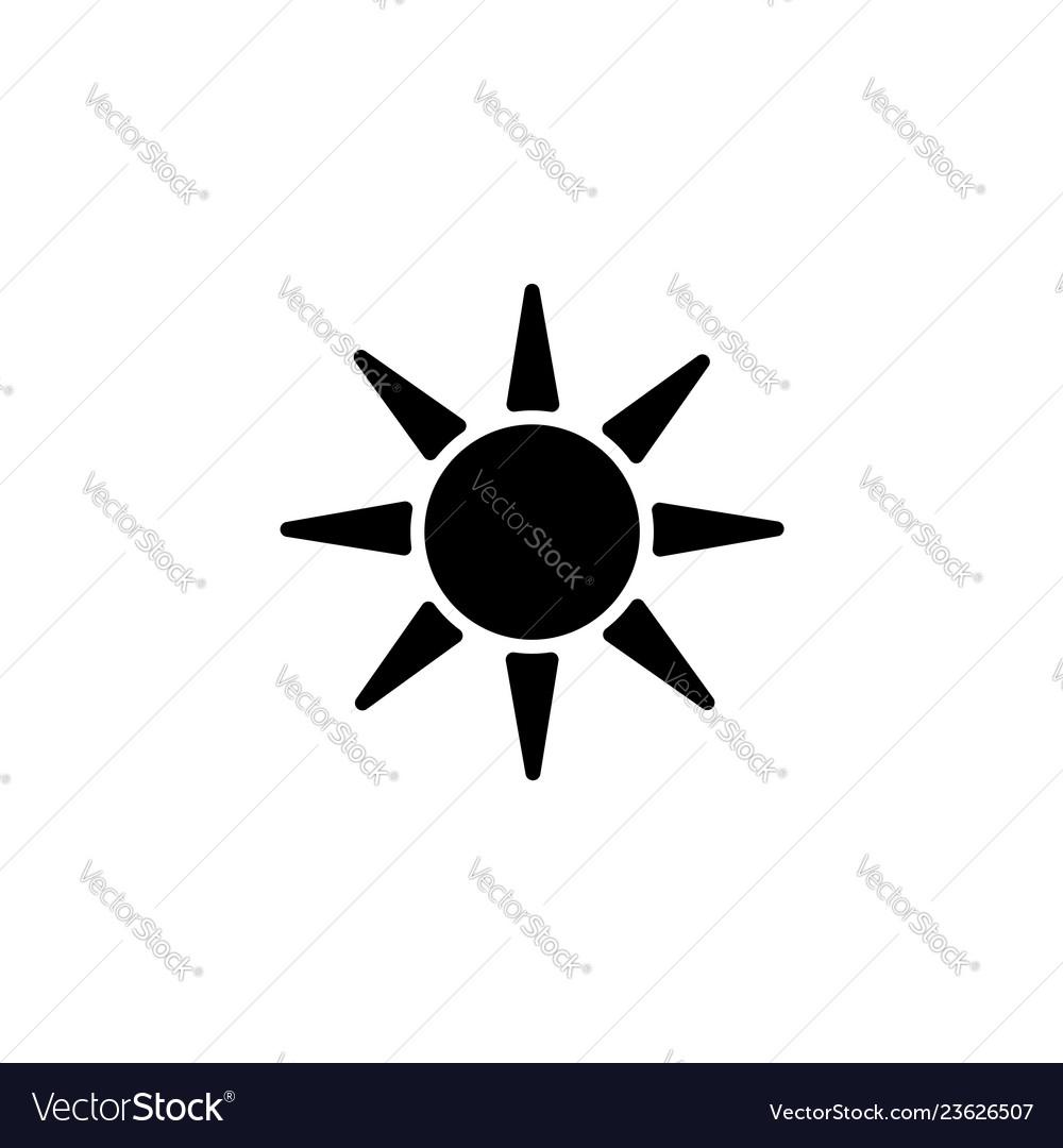 Web icon sun black on white