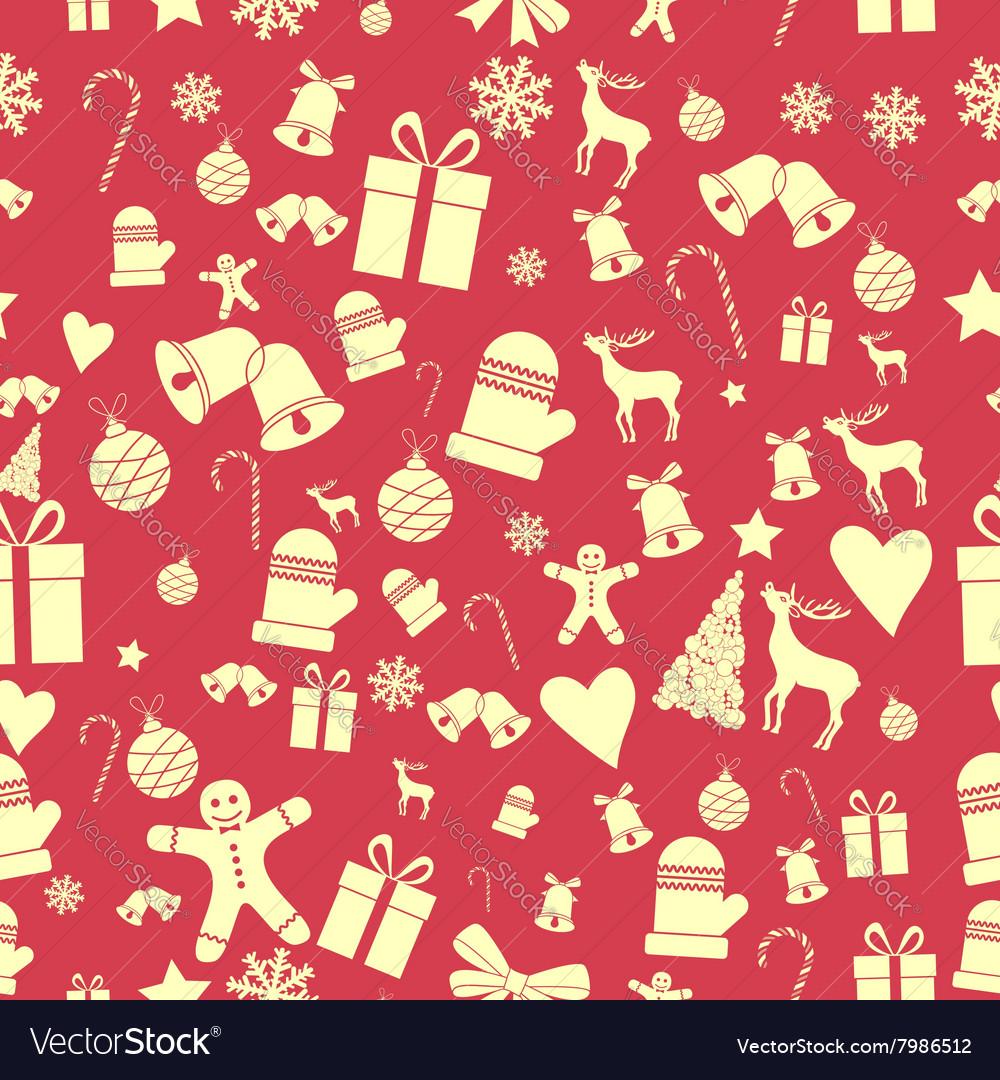 Creative Seamless Christmas pattern Beautiful red