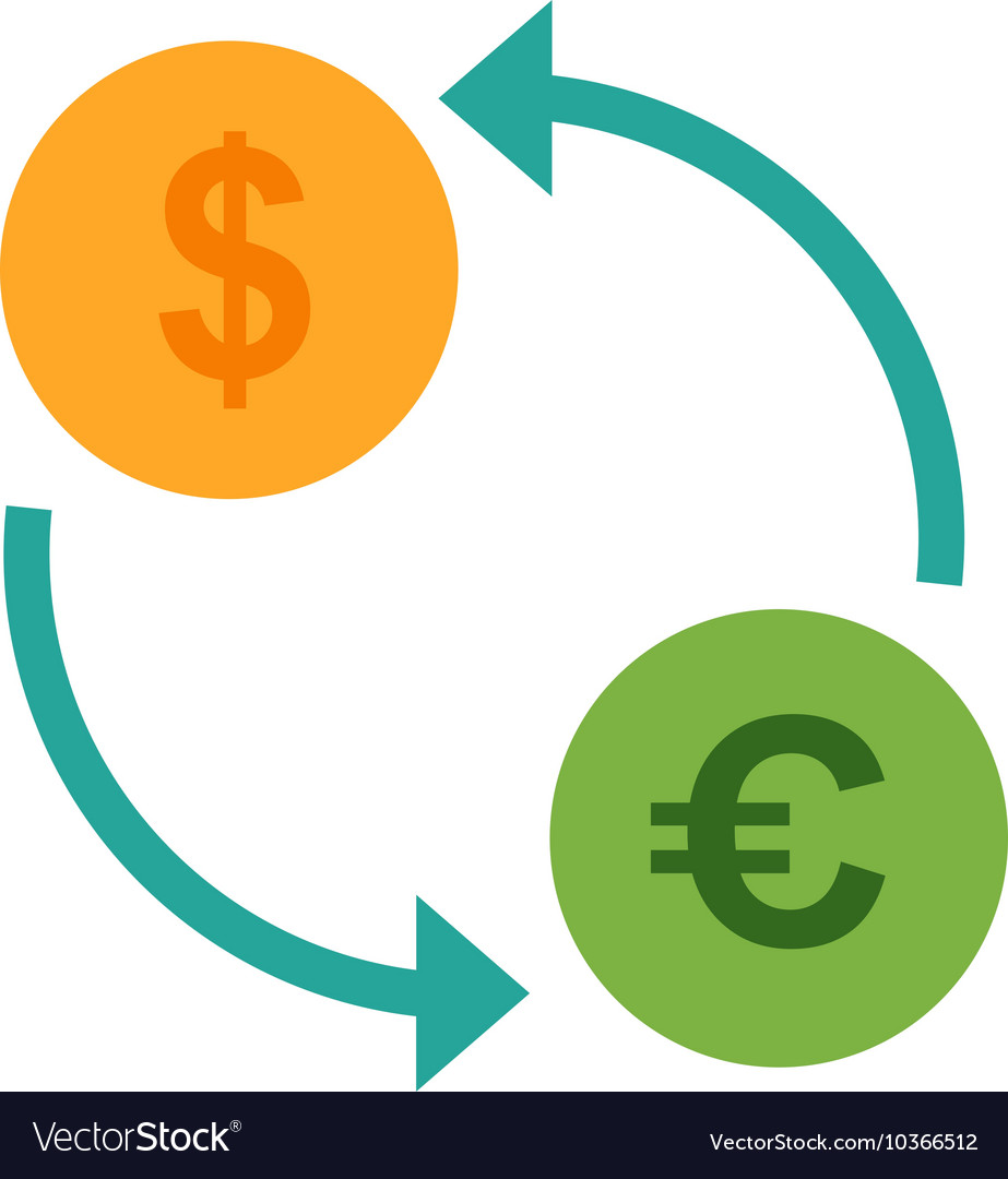 Dollar To Euro Convert Vector Image