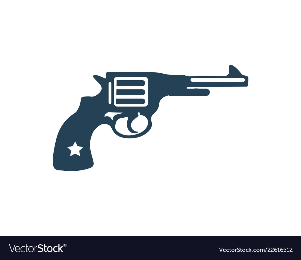 Gun shot logotype closeup