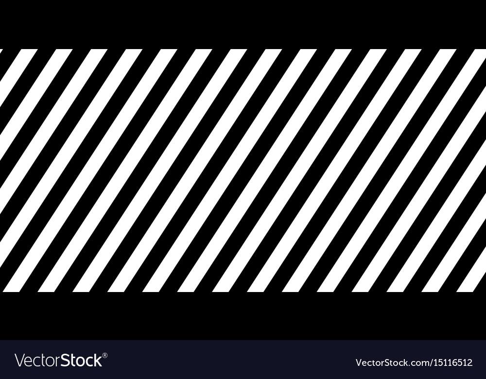 Horizontal banner black diagonal lines striped