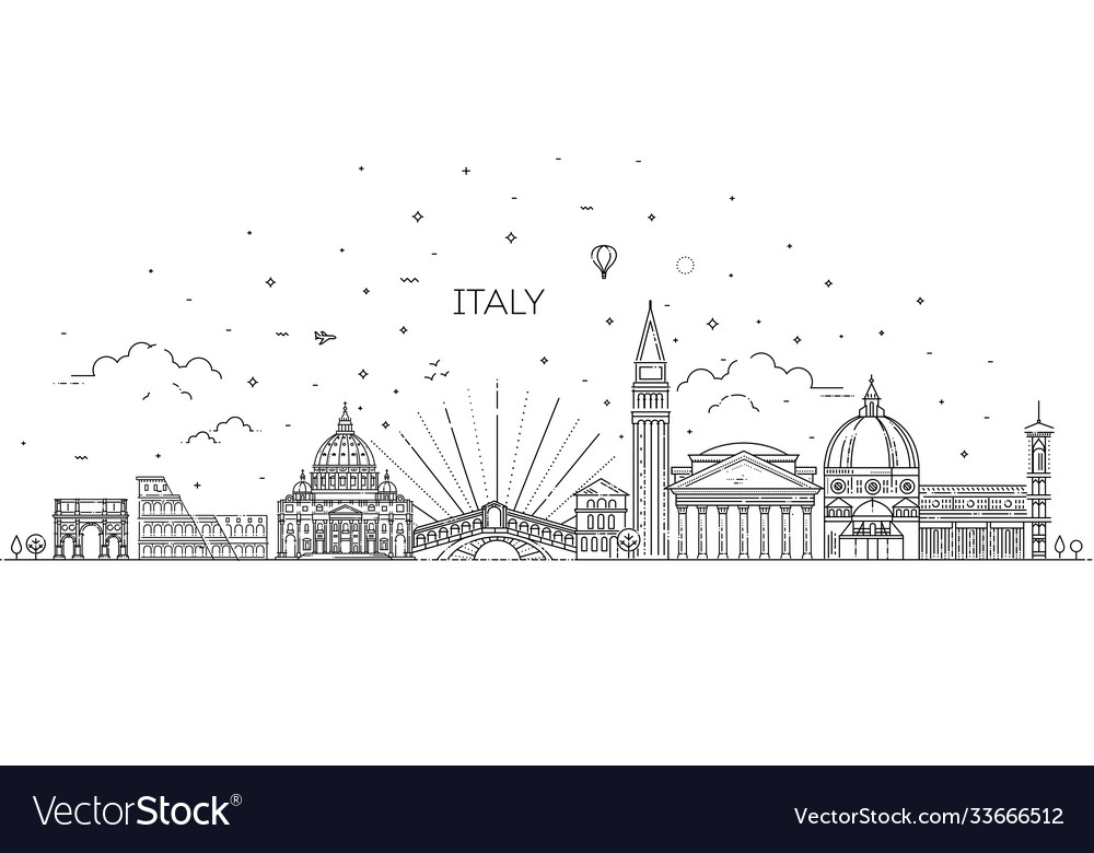 Linear icon for italy
