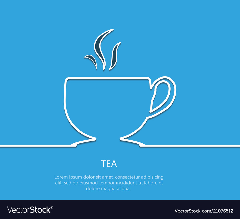 Outline tea background eps 10