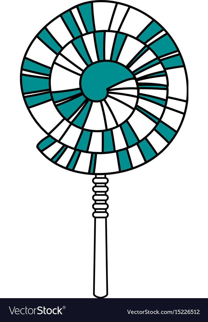 Spiral lollipop icon vector image
