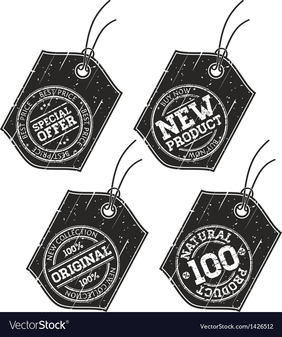 Stamp sale tags vector image
