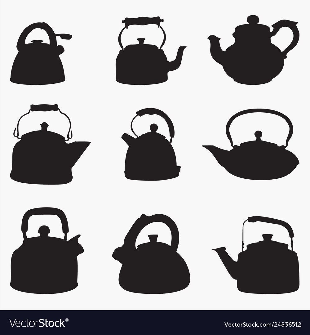 Teapot 2 silhouettes