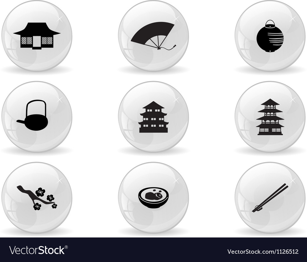 Web buttons japan icons