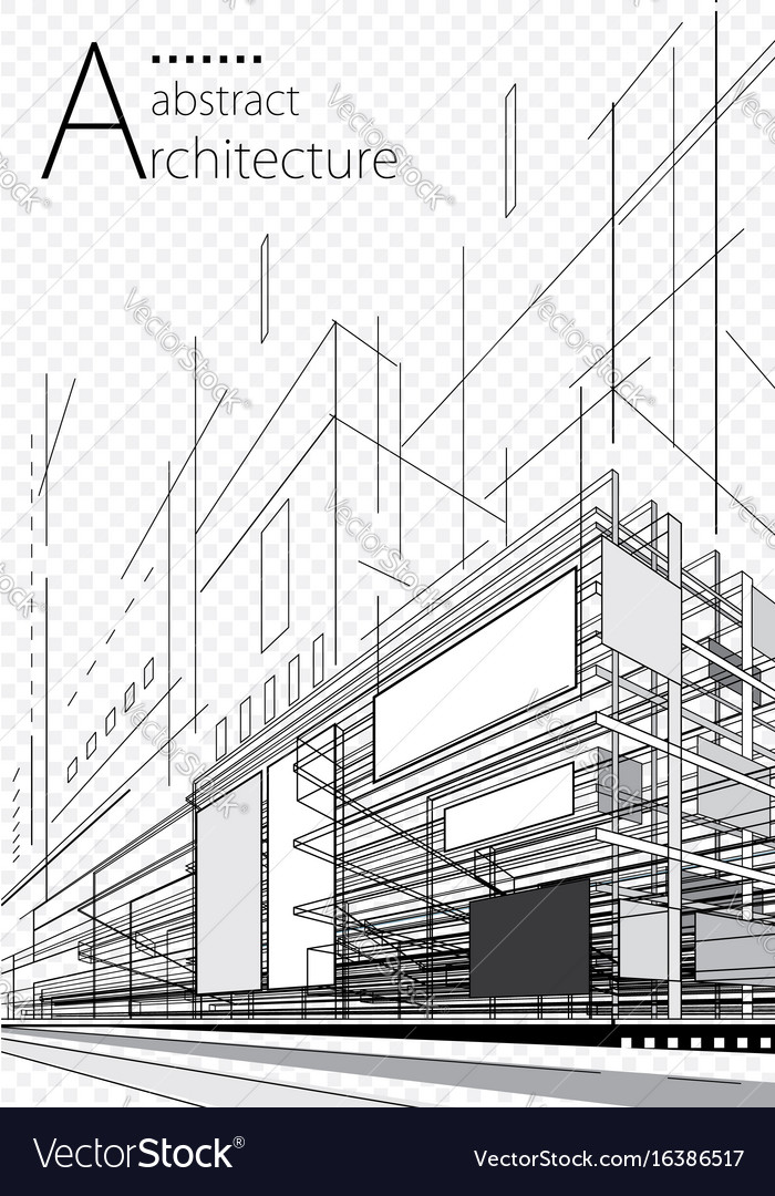 Abstract architecture plan Royalty Free Vector Image