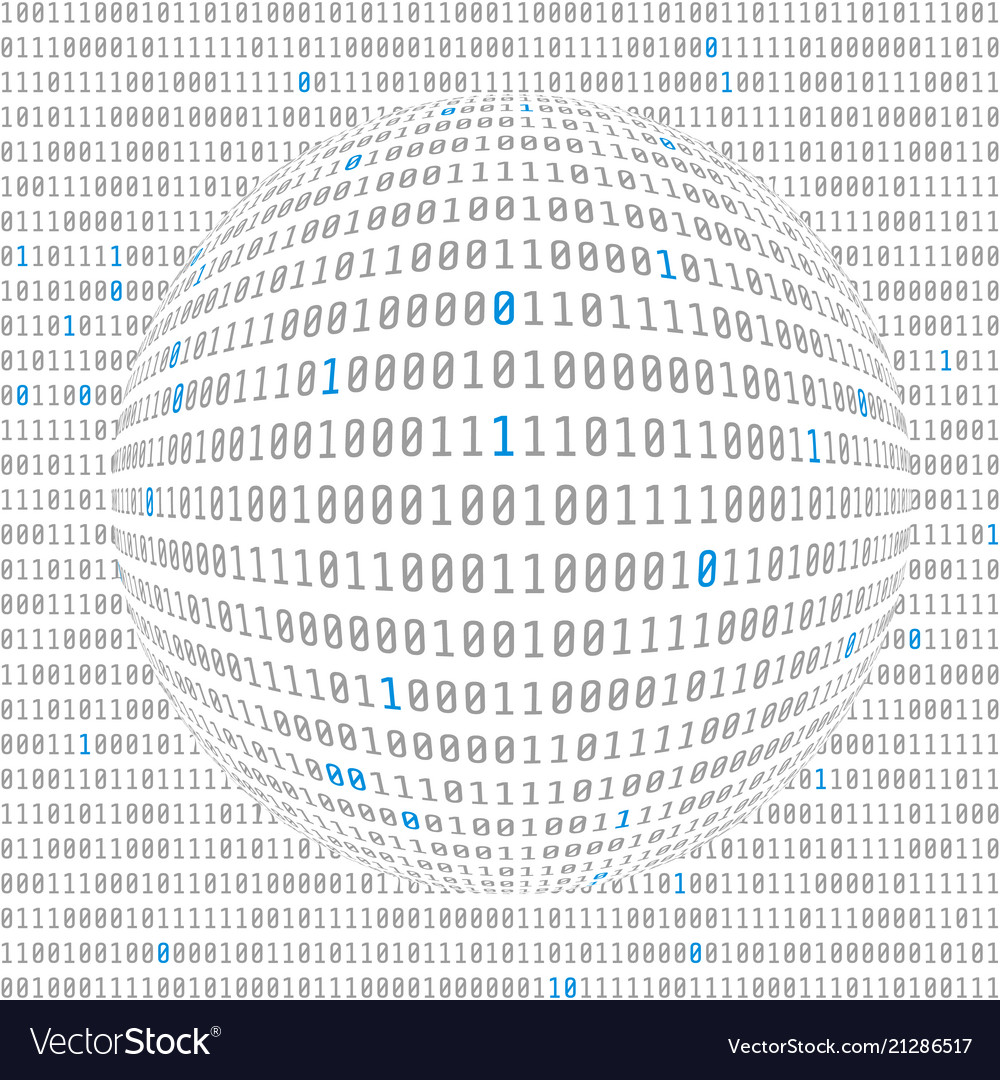 Binary data view cybersecurity binary code