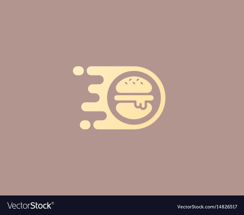 Burger logo design fast food delivery
