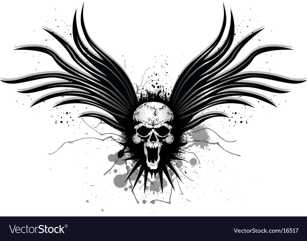 Darkness wing vector image