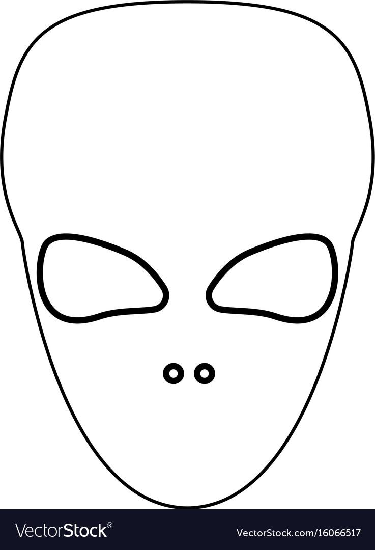 Extraterrestrial alien face or head black color