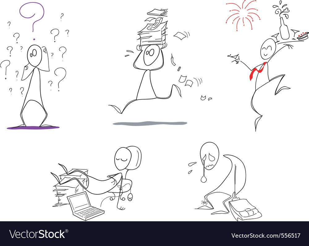 Humorous clip arts vector image