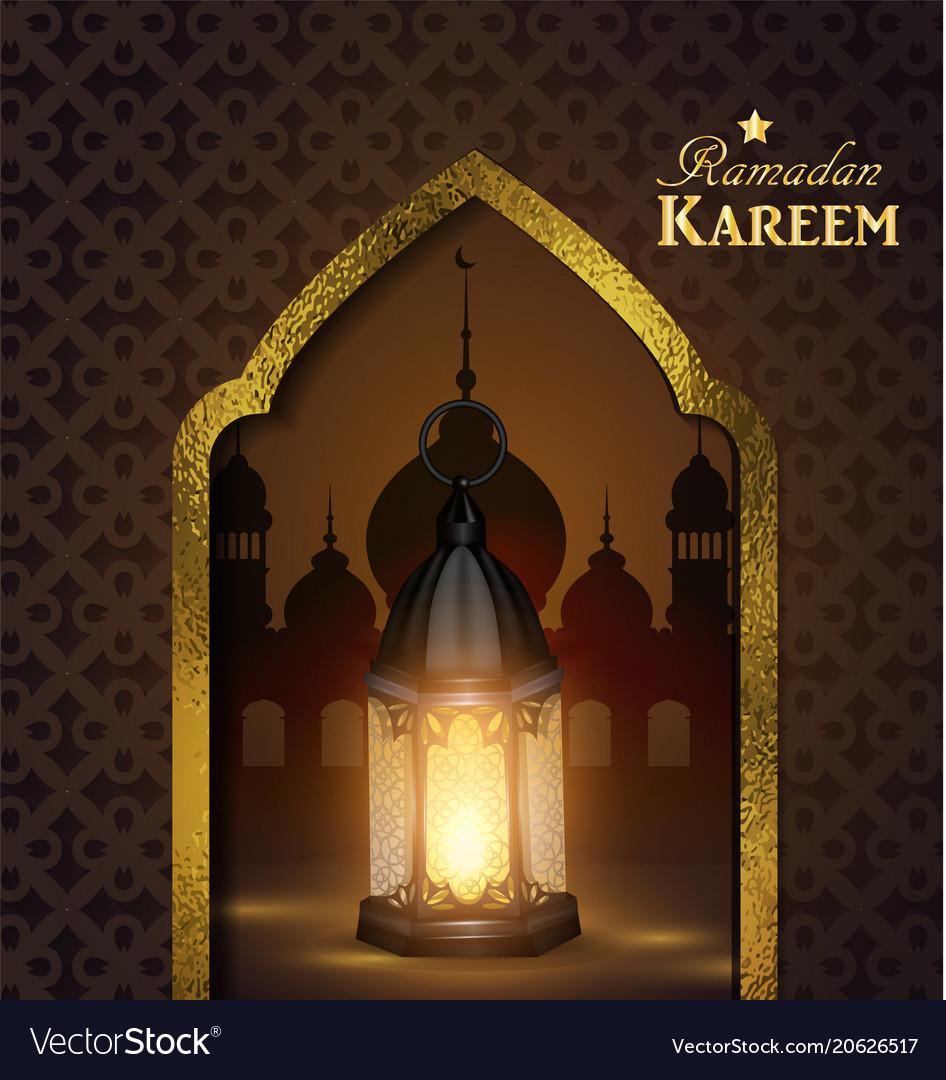 Gentil Islamic Design Mosque Door Vector Image