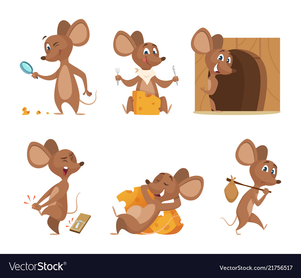 Mouse character funny cartoon mice