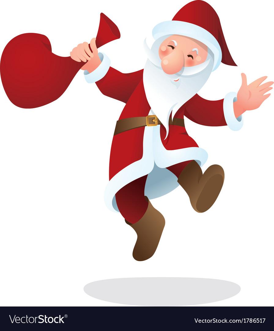 santa claus color royalty free vector image vectorstock