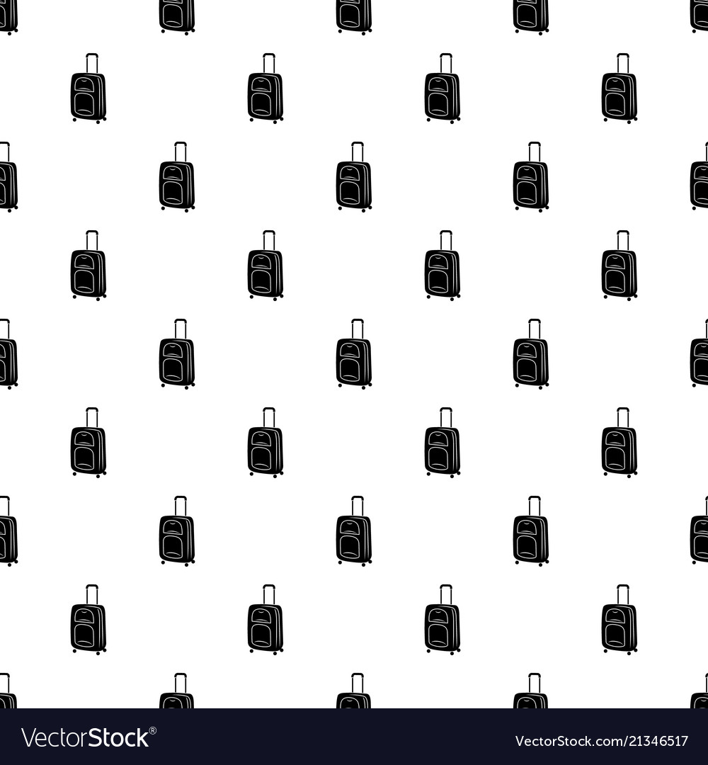 Suitcase on wheels icon simple style