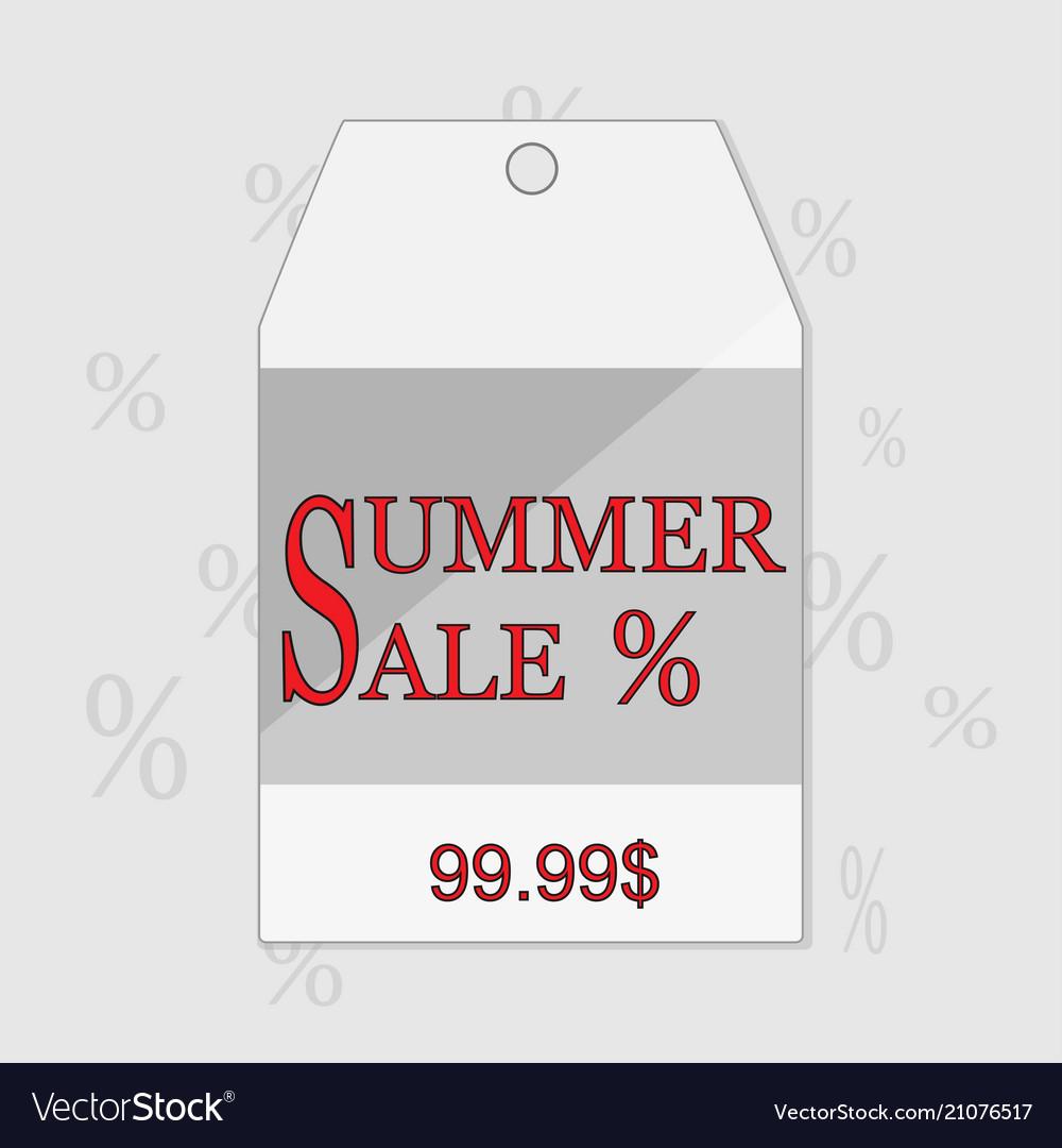 Summer sale grunge label eps