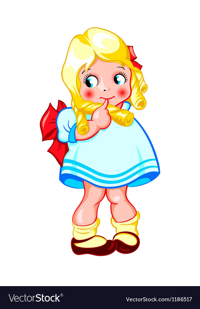 Sweet little girl vector image