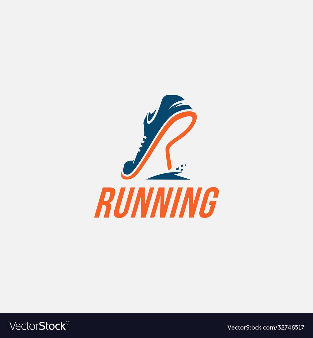 Wordmark logo r for run logo running logo