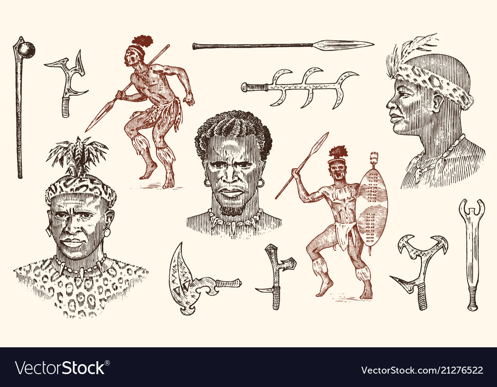 African tribes portraits of aborigines in