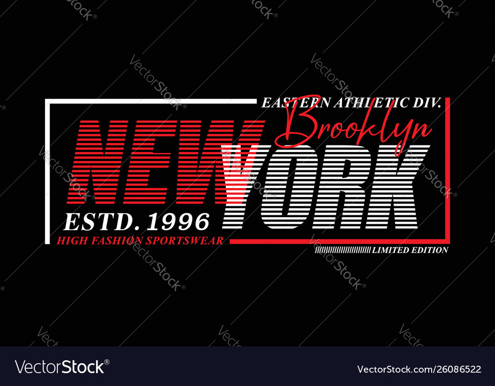 New york sport typography design usa style