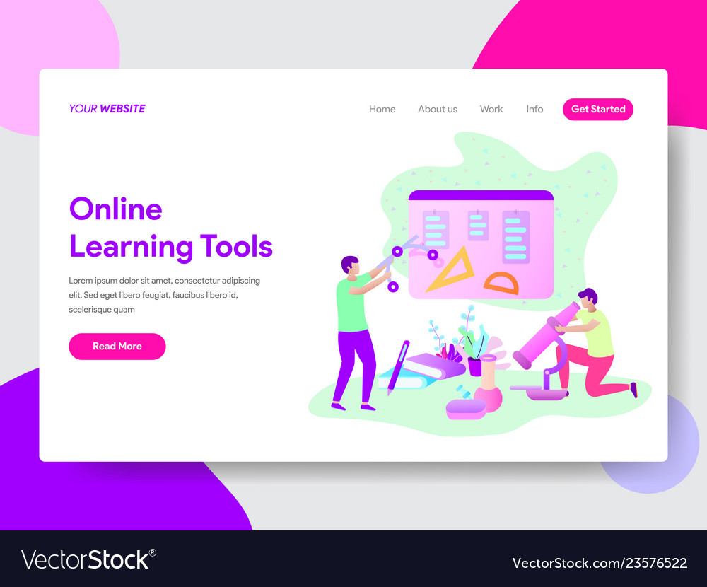 Online learning tools concept