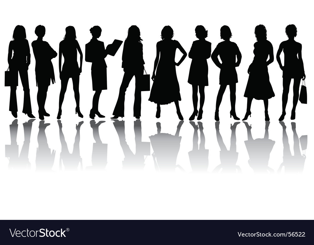 Silhouettes woman