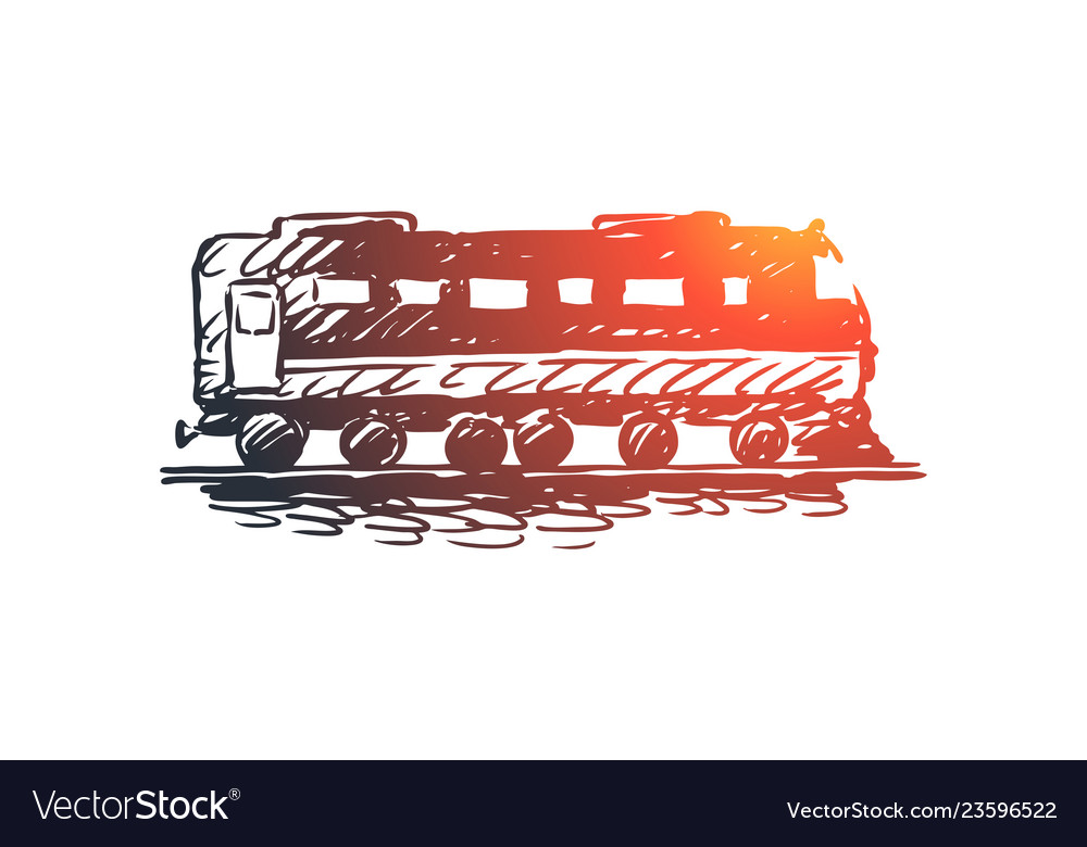 Train railway travel transport rail concept vector