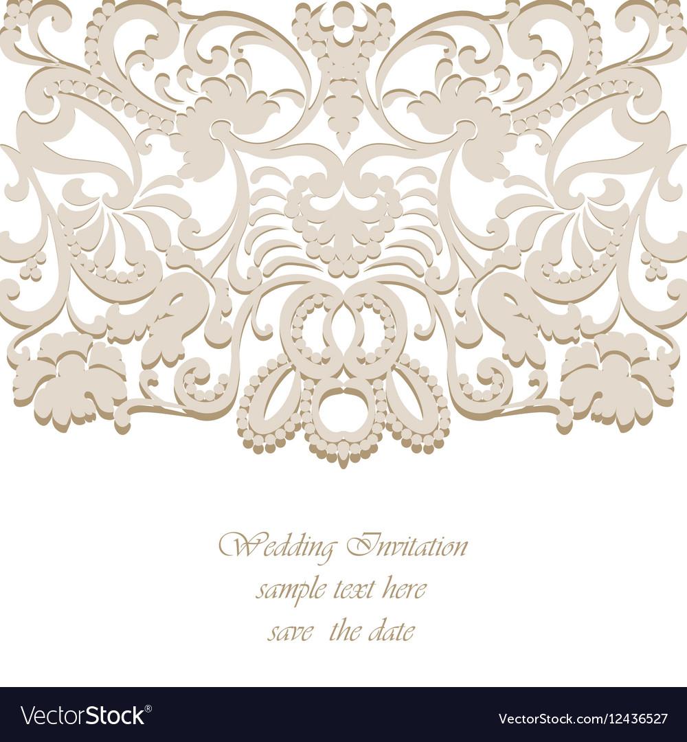 Classic Wedding Invitation Card