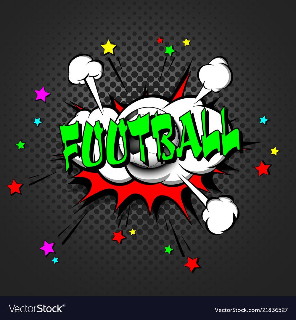 Football pop art retro style