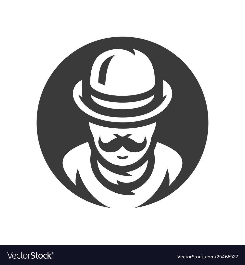 Gentleman silhouette sign