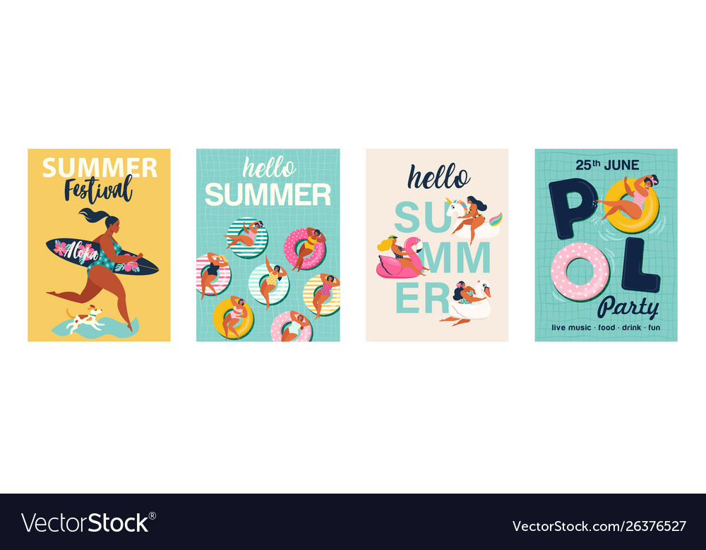 Hello summer posters in posters