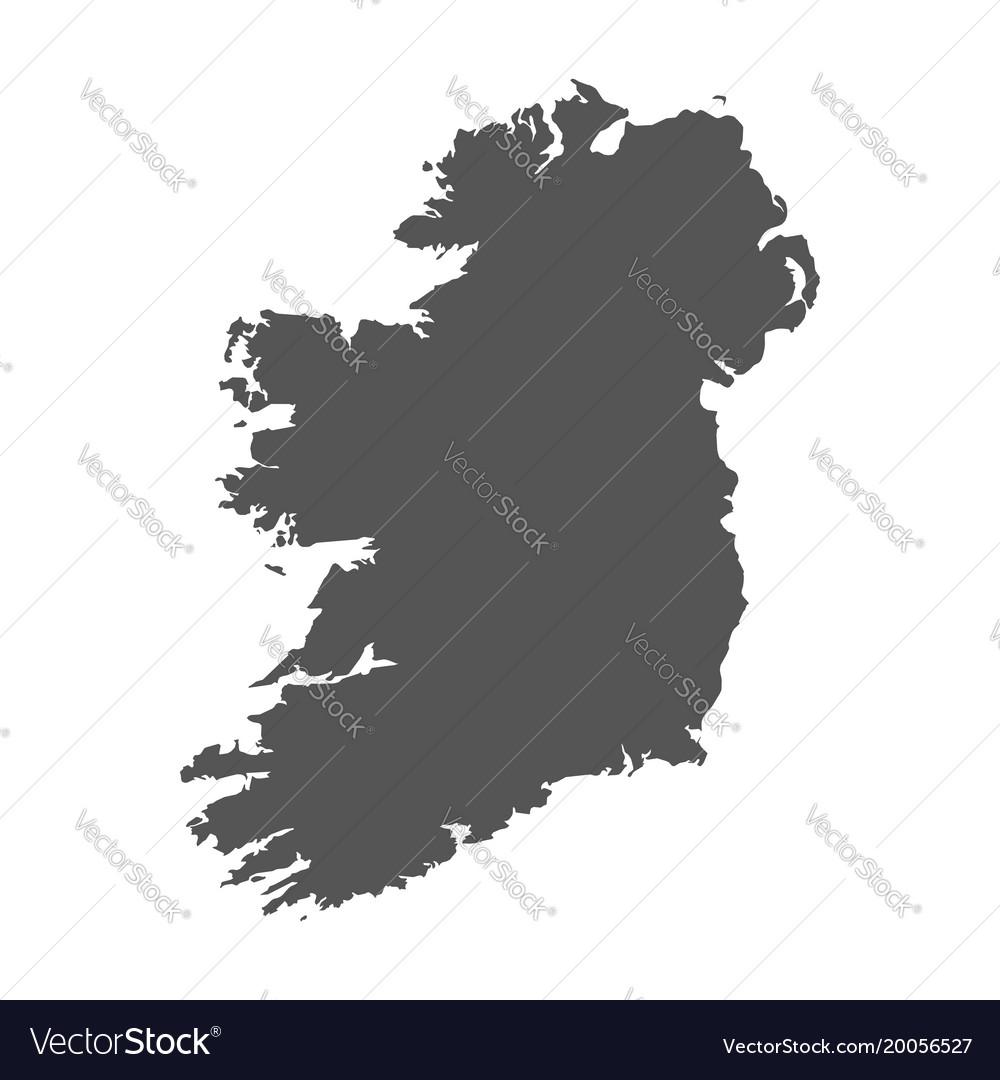 Map Of Ireland Black And White.Ireland Map Black Icon On White Background Vector Image