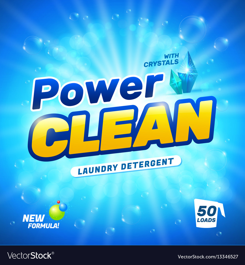 Laundry detergent package