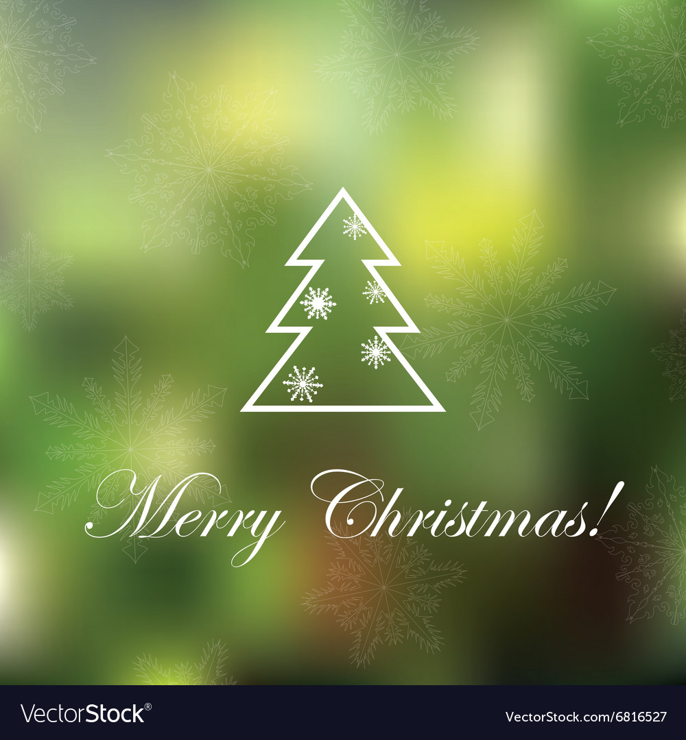 Light Christmas background with snowflakes and spr vector image