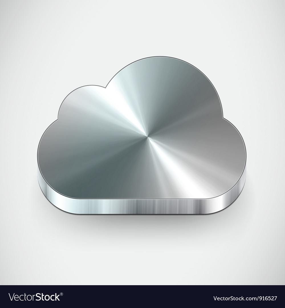 Metal cloud icon vector image